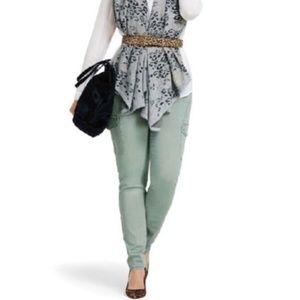 Cabi Cargo—Sage Green Skinny Jeans